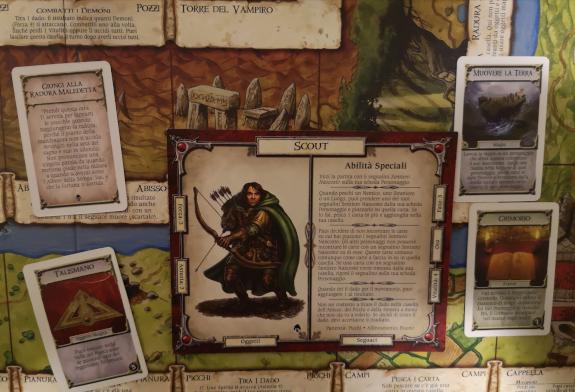 Carte e carta personaggio Talisman