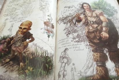 Illustrazioni razze fantasy Ossidea