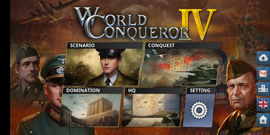 World Conqueror IV Menù