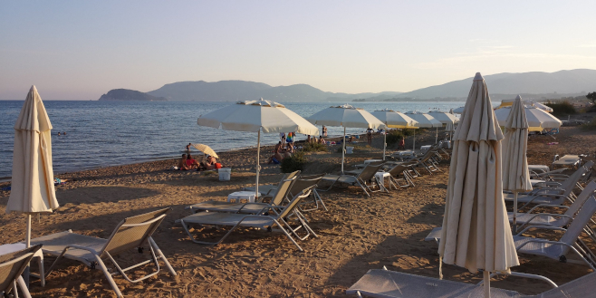 Zante equipped beach