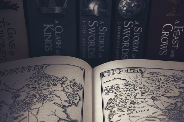 game of thrones books map