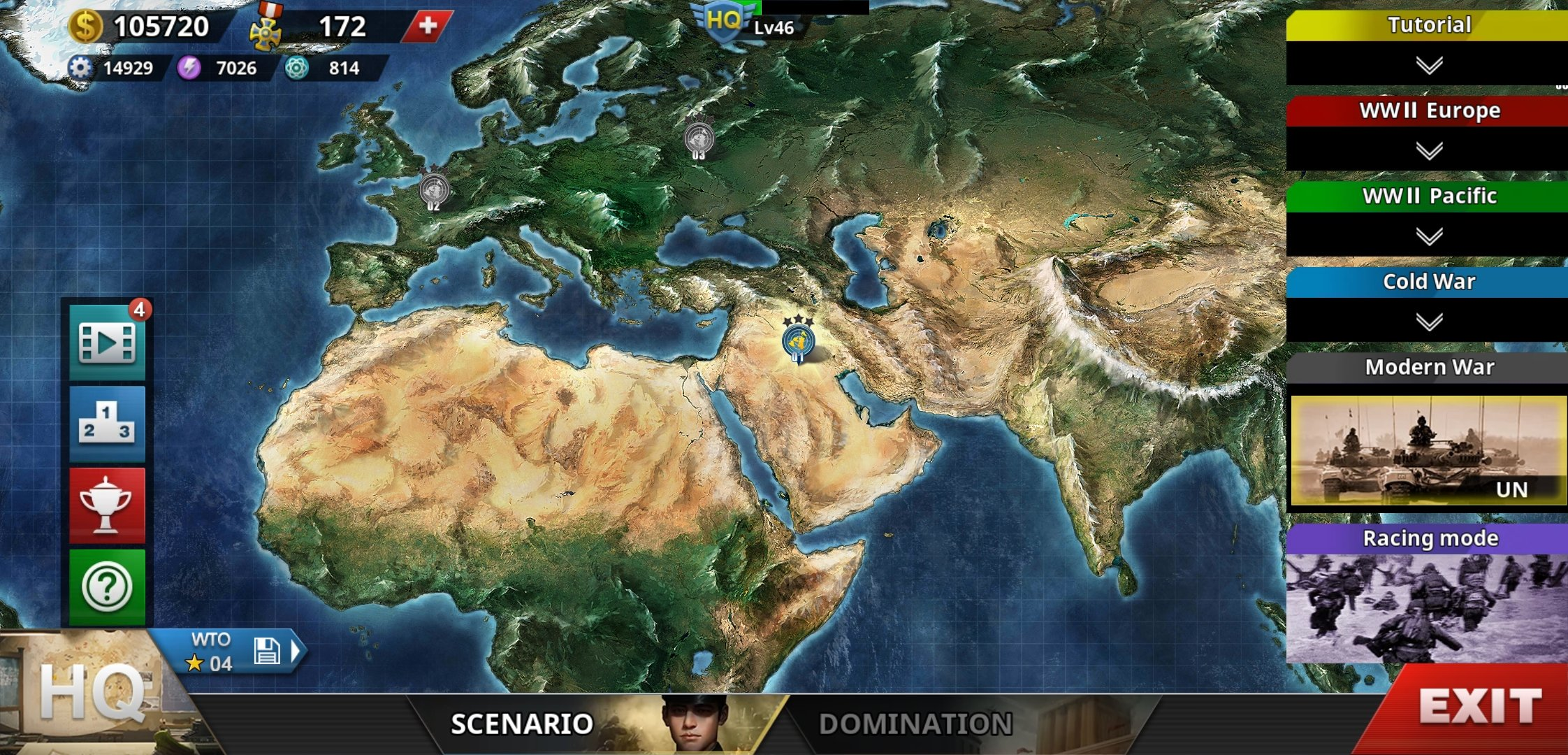 World Conqueror IV Missions Map