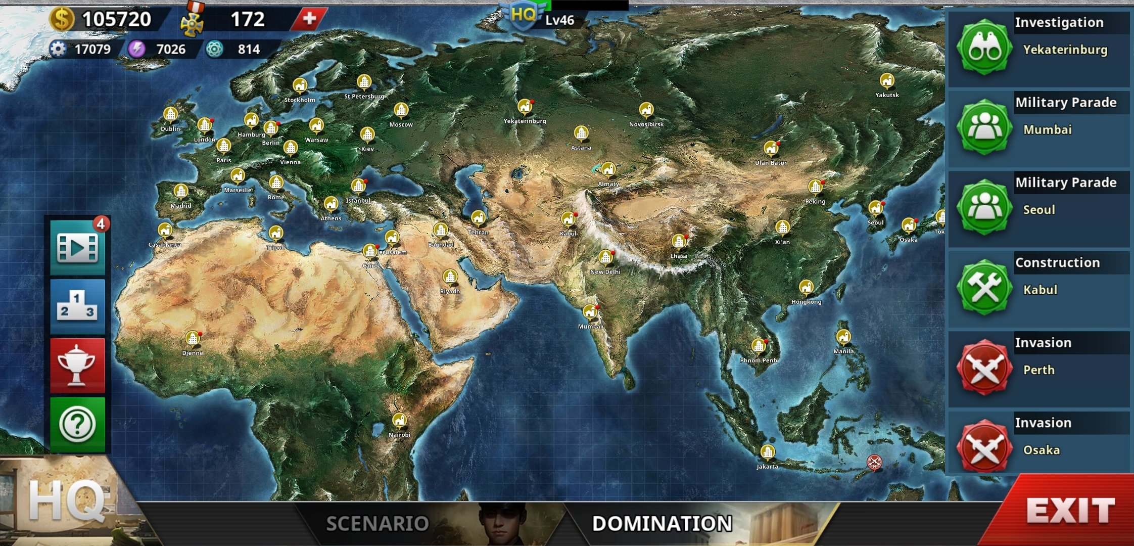 World Conqueror IV Domination Map