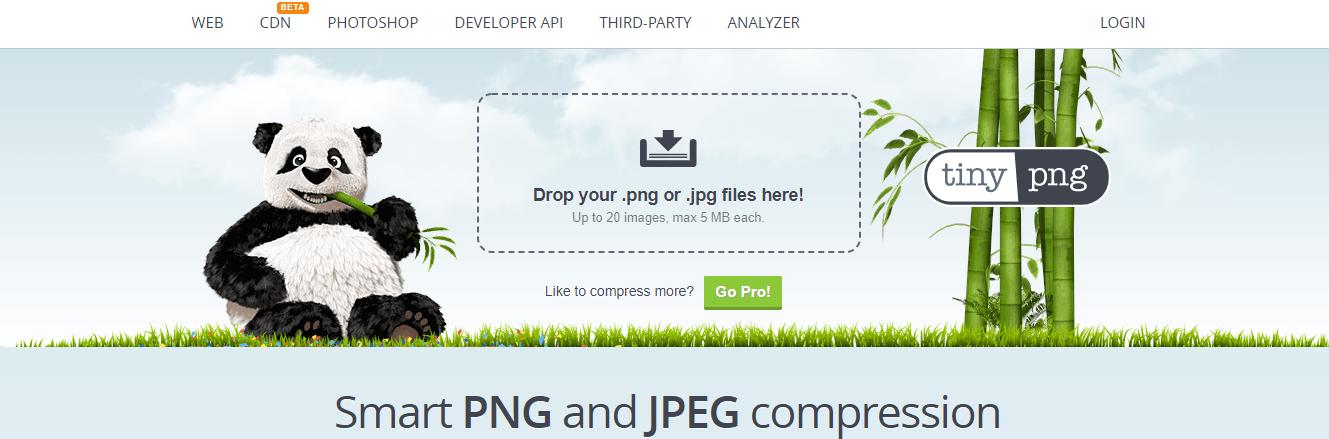 TinyPNG compressione foto