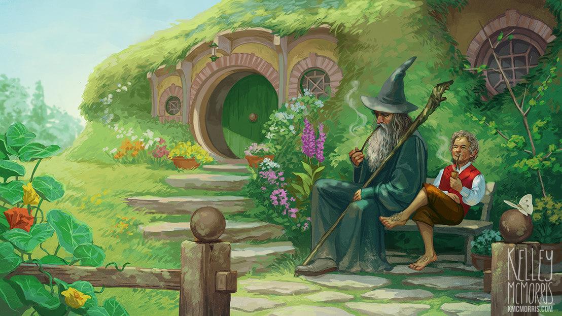 hobbiton gandalf e bilbo
